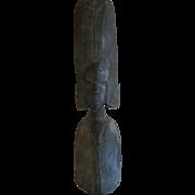 Primitive African wood carved Figure