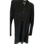 LAUREL By Escada black knit shirt sz 36