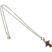 Sterling silver Tiffany & co airplane Necklace