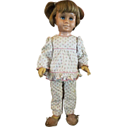 Vintage Chatty Cathy doll Mattel blonde pigtail orignal pajamas and slippers
