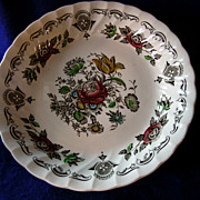 Staffordshire Set of Four Franciscan Bouquet Soup Bowls