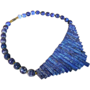 Blue Quartz Waterfall Bib Necklace
