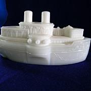 Westmoreland Glass USS Battleship Maine Candy Dish