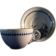 Buffalo Pottery Coffee Cup with Saucer in the  Lune 612 Pattern