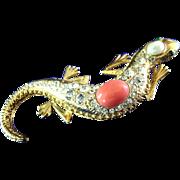 Jackie  Orr Designer Collection Salamander Brooch