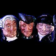 Three Royal Doulton Toby Mugs *Robin Hood*Lobster Man & Lawyer