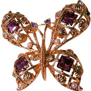 Beautiful Large Butterfly Brooch