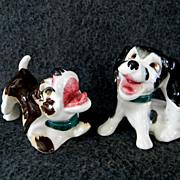 Hound Dog Cork Stoppered Salt & Pepper Shakers
