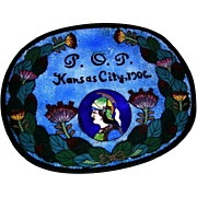1906 Priests of Pallus Cloisonne Dresser Tray Kansas City Missouri