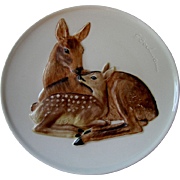 Goebel 1978 Mother's Series Decorative Plate Doe & Fawn