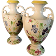 A Set of Southern Potteries Blue Ridge 8 Inch Vases