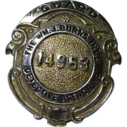 Authentic Burns Detective Agency Guard Badge