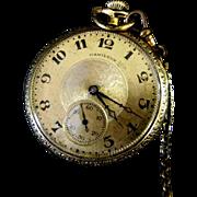 Hamilton 17 Jewel Open Face Grade 910 Pocket Watch ***Running***