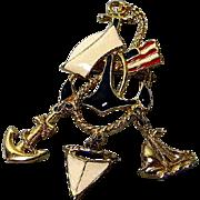 Patriotic Naval Brooch or Sailors Pin