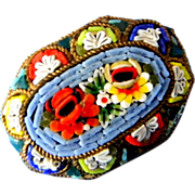 Vintage Italian Micromosaic Pin or Broach