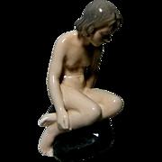 Royal Copenhagen *Girl on a Rock* Figurine