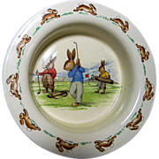 Royal Doulton Bunnykins Golfing Baby Bowl
