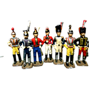 7 Vintage Toy Die Cast  Soldiers