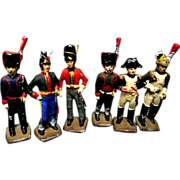 Set of 6 Die Cast Toy Soldiers
