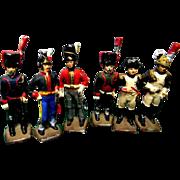Set of 6 Die Cast Toy Soldiers