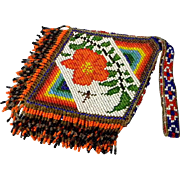 Brilliant American Indian Beaded Bag
