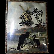 Vintage Herons Silhouette