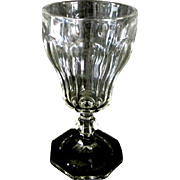 EAPG (Early American Pattern Glass) Water Goblet Panel Design with Octagon Base