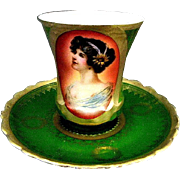 Vintage Portrait Cup & Saucer