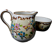 Crown Staffordshire Creamer and Open Sugar