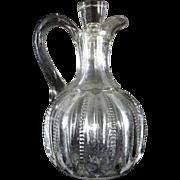 Vintage Clear Glass Cruet