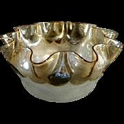 New England Glass Co. Pomona Art Glass Fluted Bowl