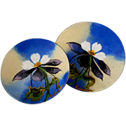 Rabianim Enamel on Copper Small Coin Dishes