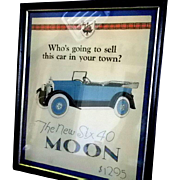 Moon Motor Car Poster or Sales Advertisment