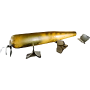 Atom Mfg.  Wood  Musky Lure in Whiting Gold Color