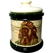 SOLD Royal Doulton American Indian Humidor