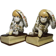 Very Unusual Thinking Monkeys Bookends