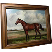 Beautiful Oil on Board Horse Painting ** Signed