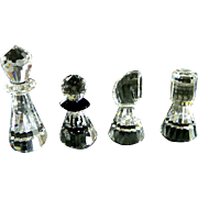 Swarovski Crystal Complete Chess Set W/ Carrying Case