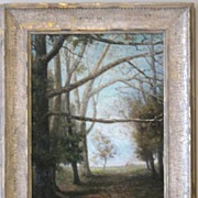Beautiful Oil Painting of a Landscape Scene with Tree Branches