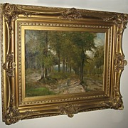 Oil Painting of a Landscape by William Henry Howe