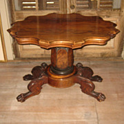 Mahogany Occasional Table with Lion Feet