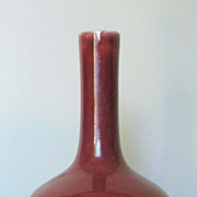 Early 19th C. Chinese Dark Oxblood Porcelain Vase