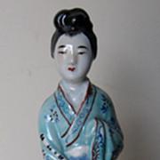 Chinese Polychrome Porcelain Female Figure
