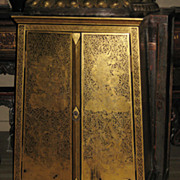 Thai Gilt Tapering Lacquer Cabinet