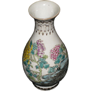 Chinese Early Republic Miniature Porcelain Vase