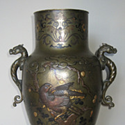 SALE PENDING Magnificent Japanese Meiji Bronze Vase