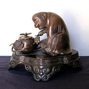 Antique Japanese Bronze Monkey