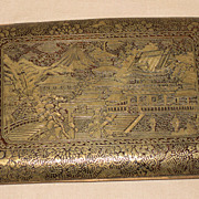 Japanese Damascene Cigarette Case