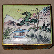 Chinese Small Enamel Trinket Box