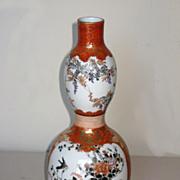 Superb Japanese Kutani Double Gourd Porcelain Vase